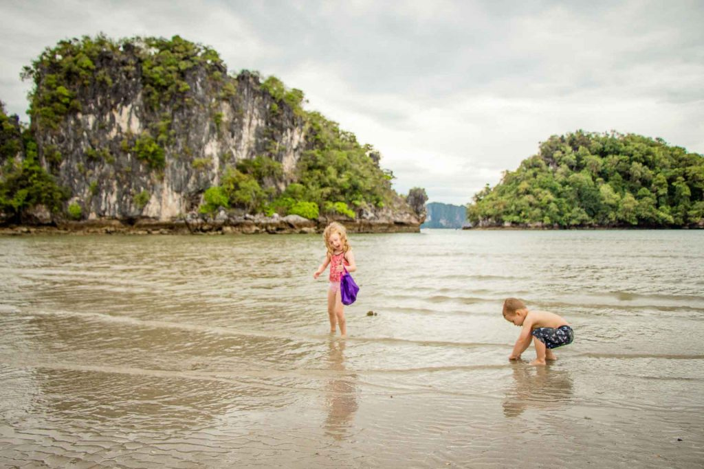 Noppharat Thara Beach Ao Nang Thailand with kids