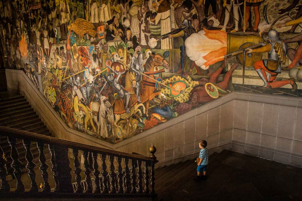 Palacio Nacional in Mexico City with Kids