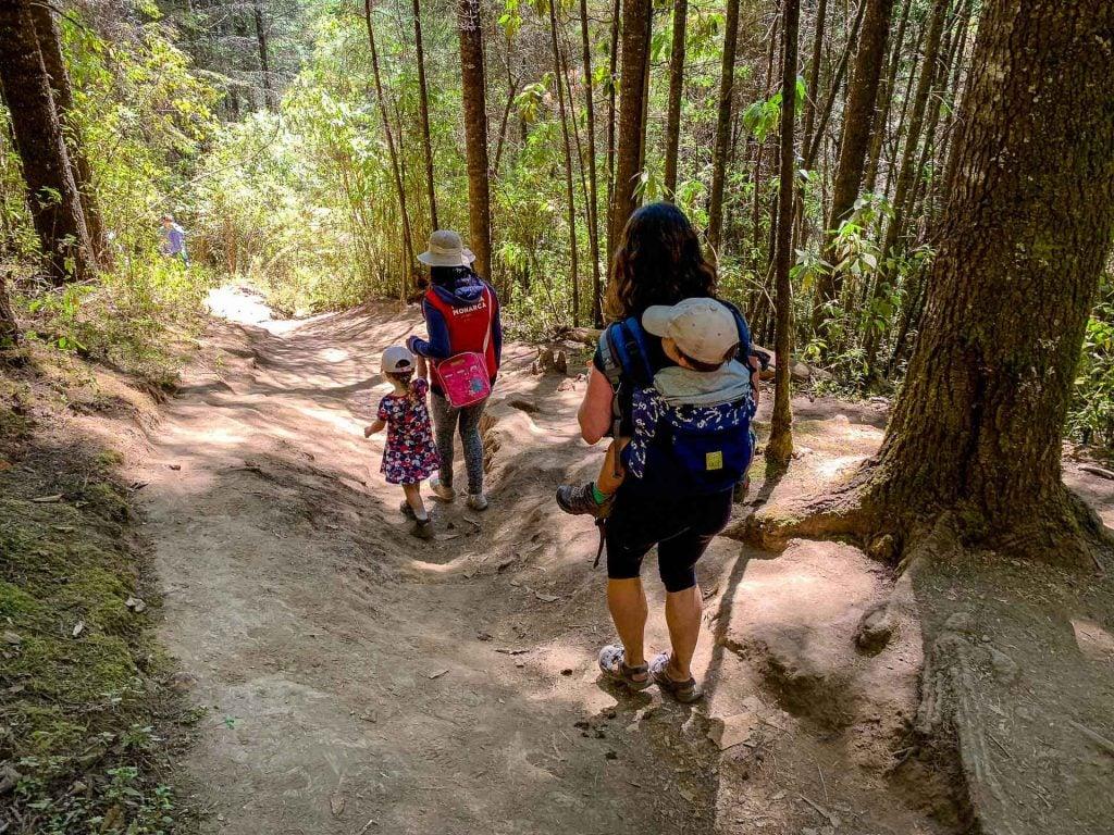 Hiking at Piedra Herrada Sanctuary Valle de Bravo Mexico with Kids