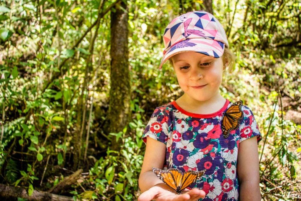 Valle de Bravo Butterflies with kids