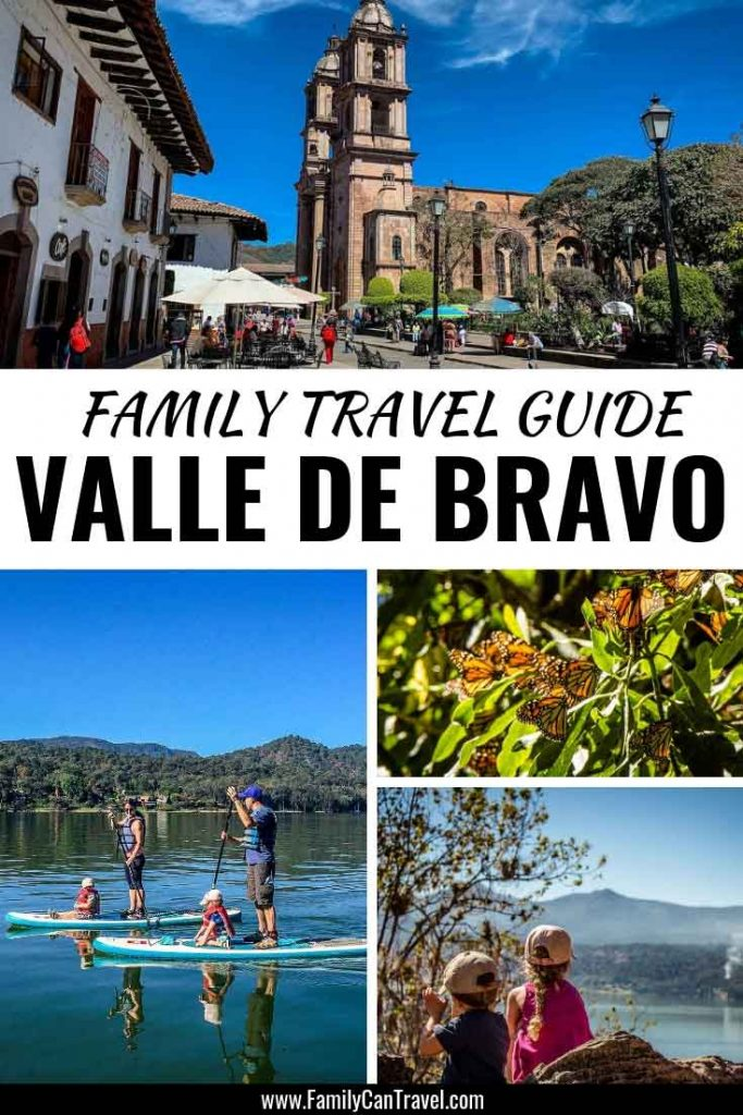 Valle de Bravo, Mexico is the perfect addition to a Mexico City Itinerary with kids! If you love hiking, stand up paddleboarding and even paragliding, you'll find plenty to do here. During the winter you can even witness the incredible monarch butterfly migration! #mexico #valledebravo #monarchbutterfly #travelwithkids