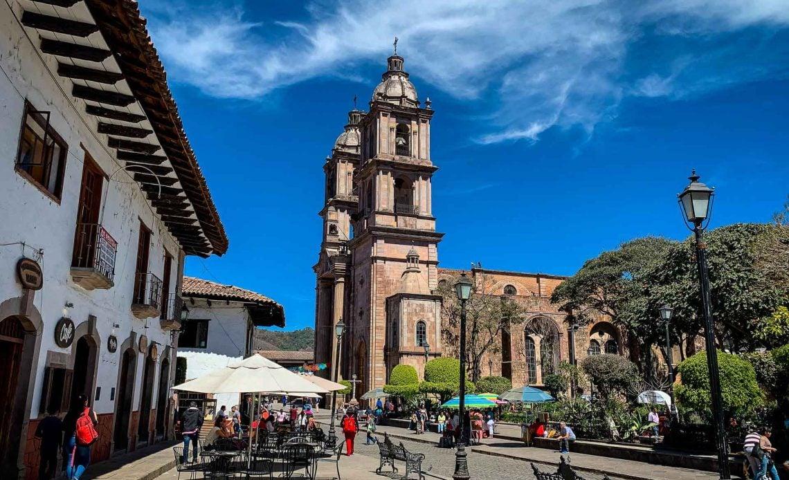 Plaza de la Independencia in Valle de Bravo Mexico