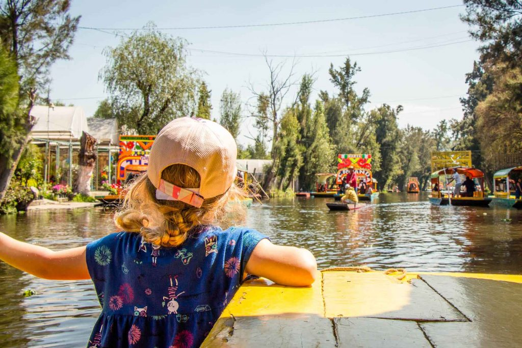 Xochimilco Mexico City with Kids