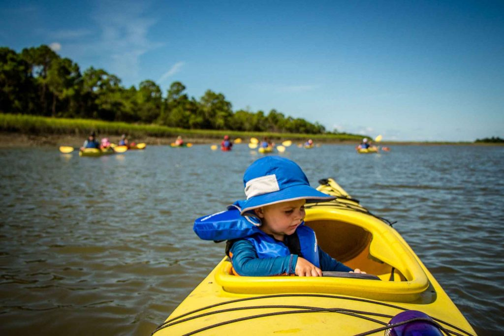 Kayak with Kids in Charleston