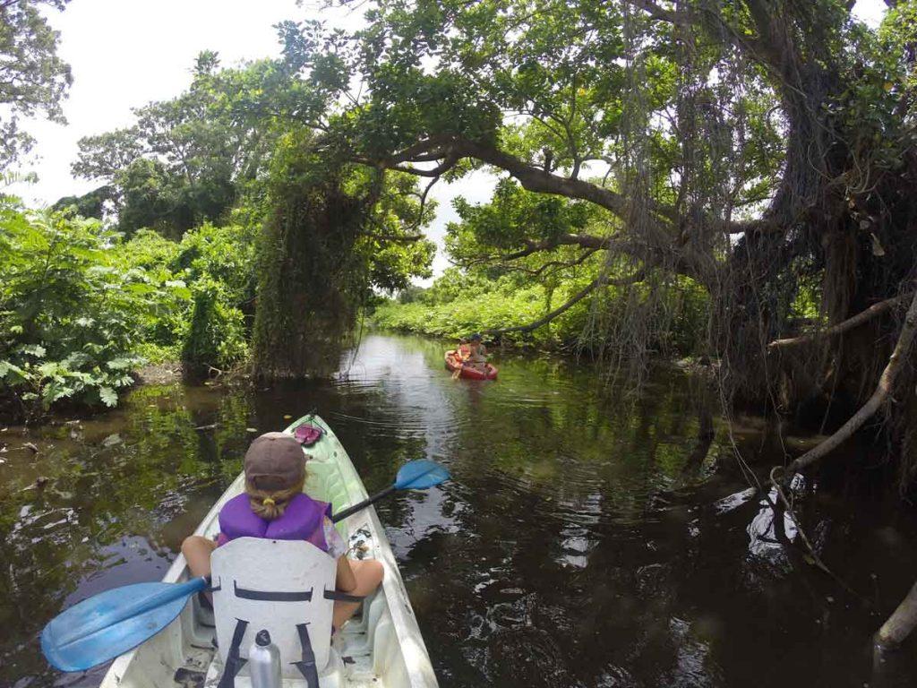Kayaking Lake Nicaragua with Kids