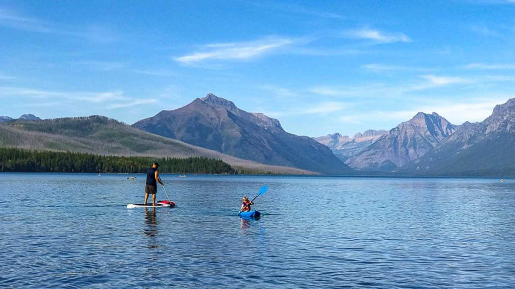 Kayak with Kids in Glacier National Park