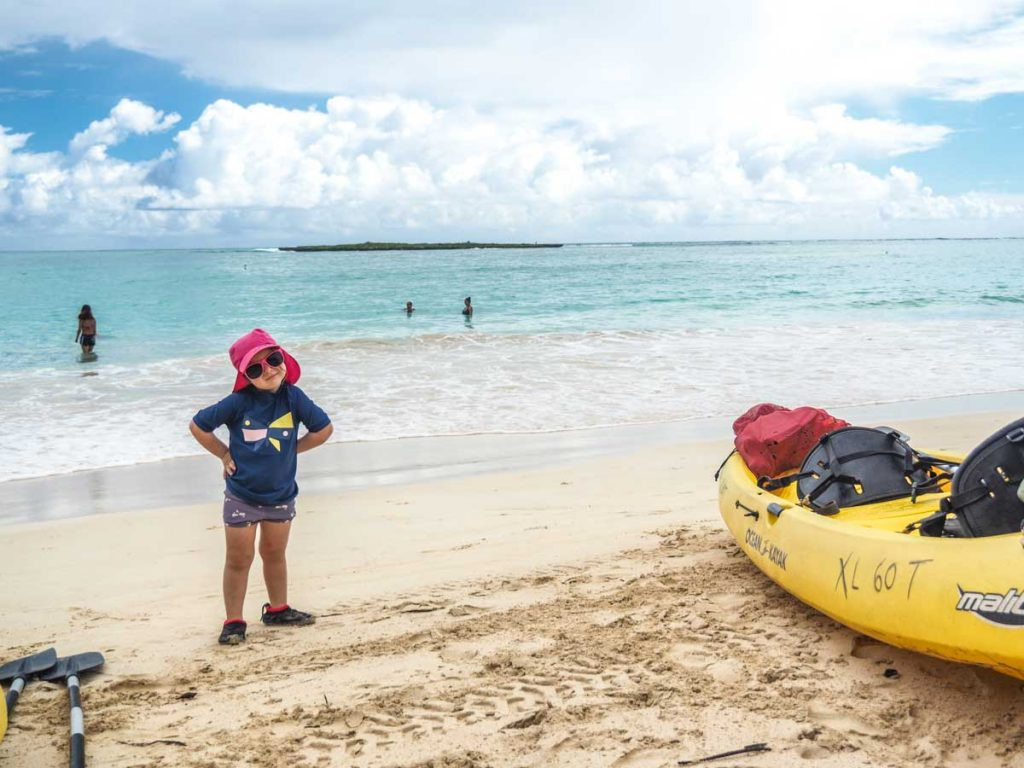 Kayak in Oahu Hawaii with Kids