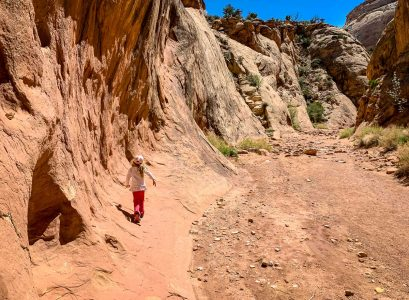 hiking capitol gorge trail with kids