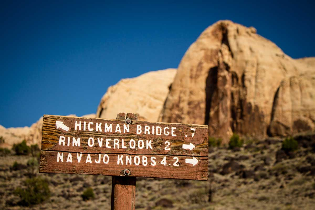 Hickman Bridge Trail Capitol Reef National Park with Kids