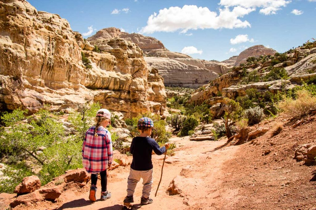 things to do in Capitol reef for kids - Hickman Bridge trail