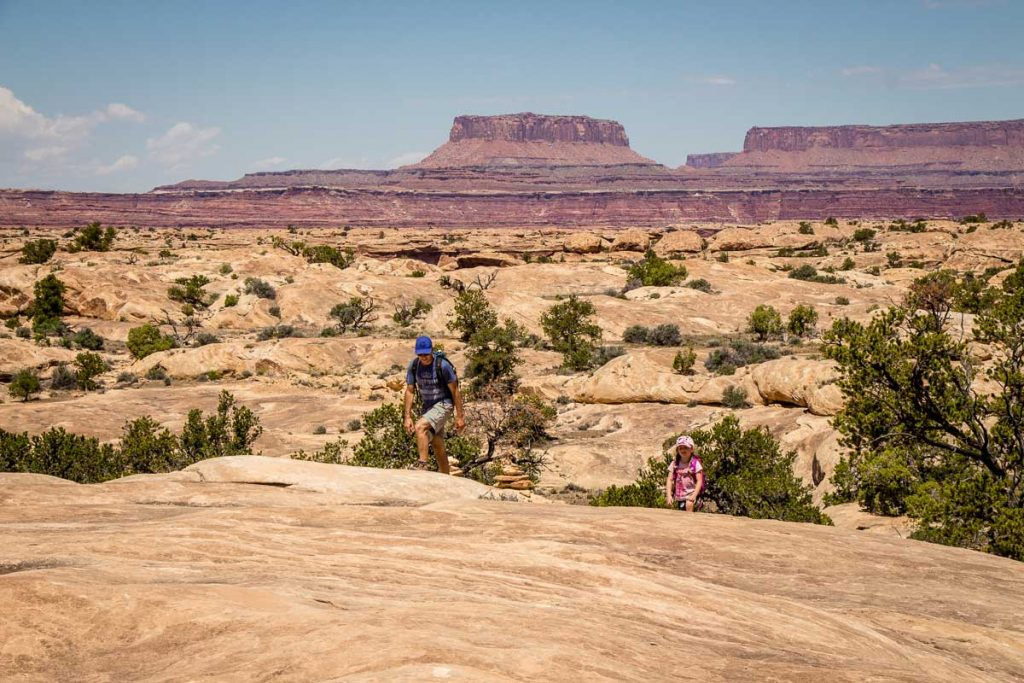 hiking in Canyonlands NP with kids