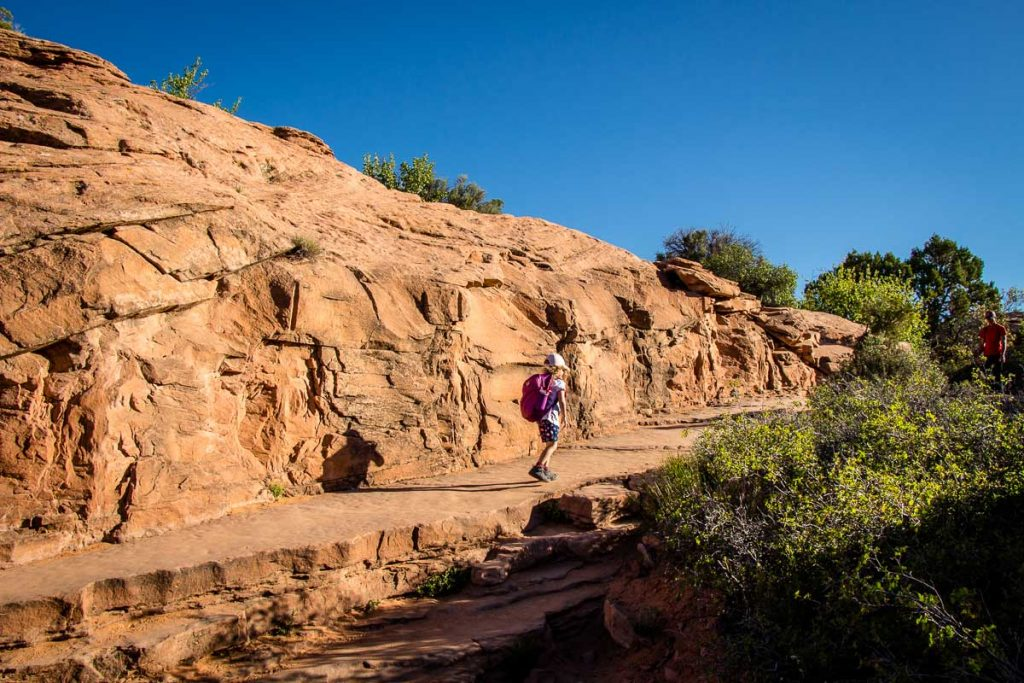 Hiking to Delicate Arch with Kids