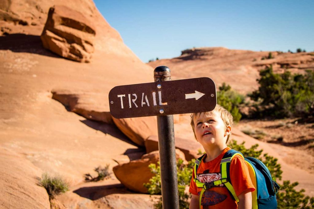 Hiking arches national park trails with kids