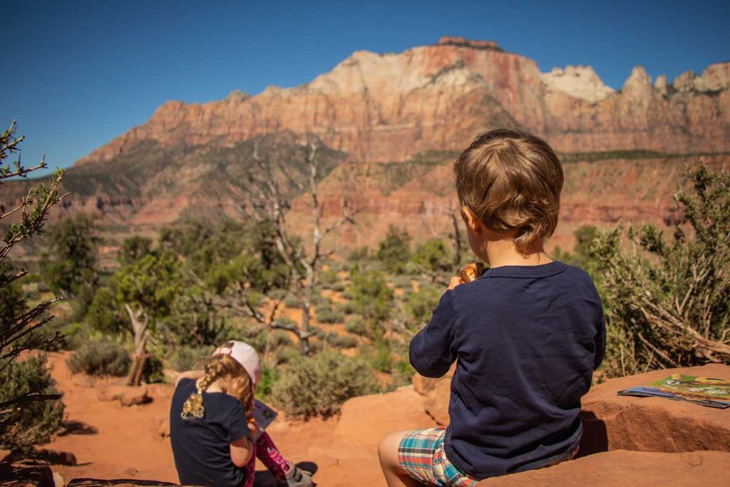Hiking with kids in Zion National Park