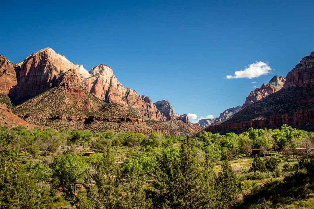best views in Zion national park - the Watchman Zion
