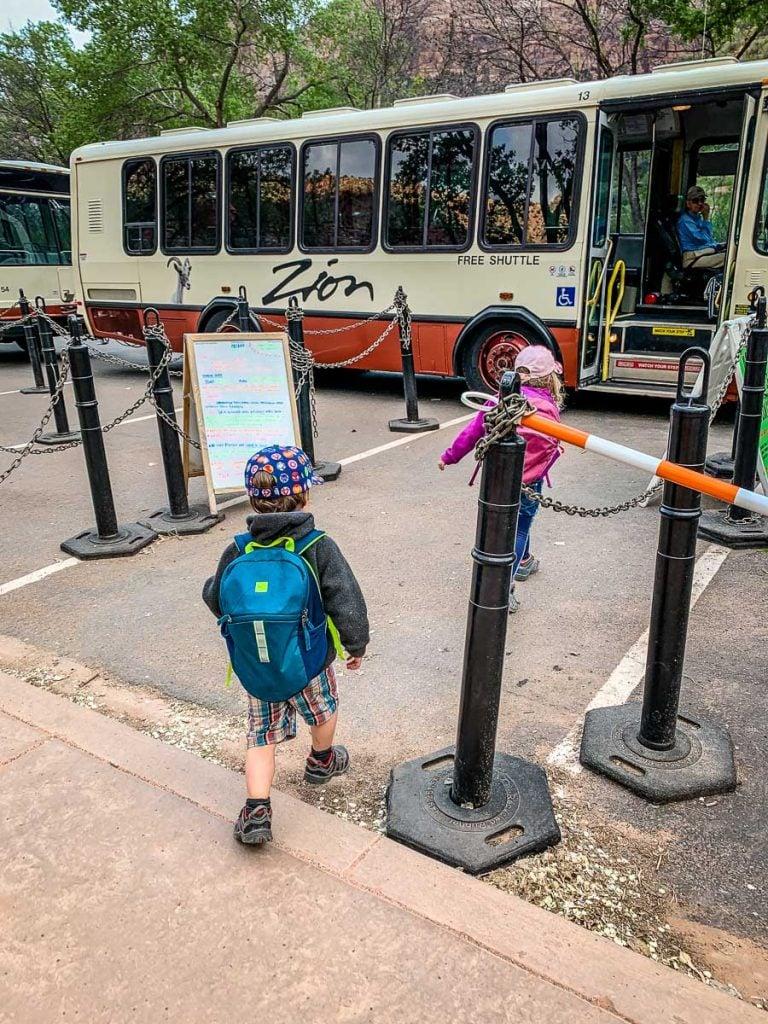 Zion Park Shuttle Bus