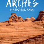 These 5 easy walks in Arches National Park are great for families traveling with small kids. You'll get up close to the Arches and some even have fun features for kids. Don't miss these family friendly hiking trails in Arches National Park Utah! #archesnationalpark #hikingwithkids #familytravel #utah