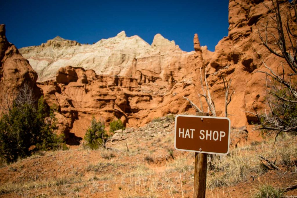 hat shop in kodachrome basin state park