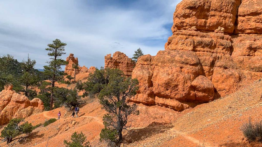 hiking Bird's Eye Trail in Red Canyon with kids