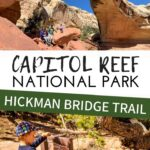 Hickman Bridge Trail is one of the best hikes in Capitol Reef National Park. This scenic trek to a large natural arch is also family friendly and a great hike with kids. #capitolreefnp #hikingwithkids #besthikescapitolreef #utah
