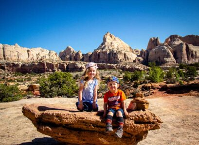 capitol reef national park with kids