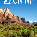 One of our favorite hikes with kids in Zion NP. Watchman Trail has some of the best views and you can leave right from the Zion National Park visitor center! Click to learn more about hiking Watchman Trail with kids! #utah #zionnationalpark #watchmantrail