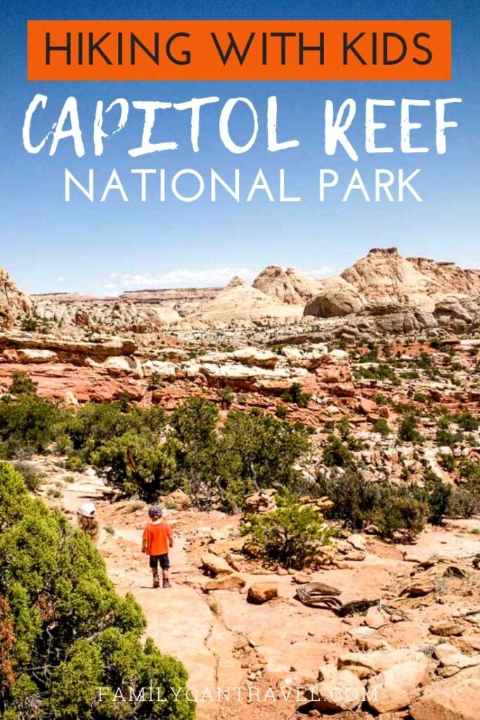 Hiking is one of the best ways experience Capitol Reef National Park with kids. In this post we include where to stay in Capitol Reef NP, where to eat in Capitol Reef and of course, the best hikes in Capitol Reef National Park. #CapitolReef #UtahNationalParks #NationalParks #Hiking #hikingwithkids