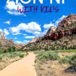 Zion National Park in Utah is incredible! There are so many family friendly hikes and things to do with kids! Make sure to add Zion National Park with Kids to your bucket list and click to read everything you need to know! #zionnationalpark #utah #travelwithkids