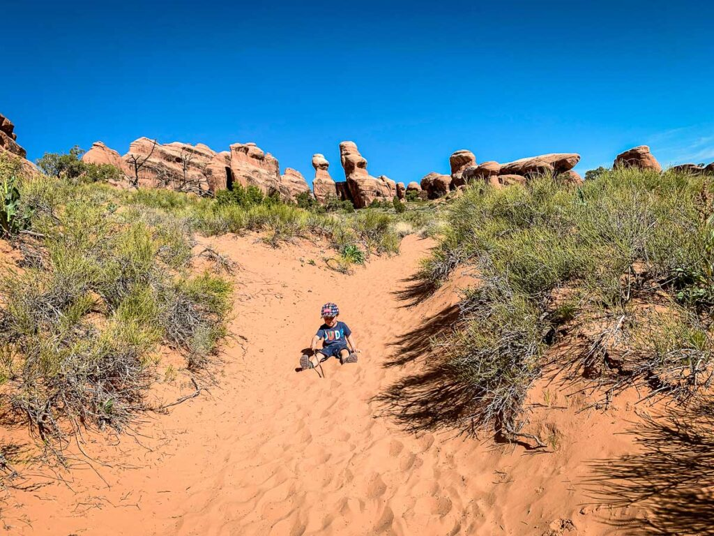 arches national park trails with kids