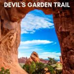 One of the best hikes in Arches NP! Devils Garden will take you by Pine Tree Arch, Tunnel Arch and Landscape Arch. Don't miss this one!