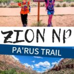 Looking for a family friendly trail in Zion National Park with Kids? Pa'rus Trail is a great hike to do with kids and the views are well worth it!! Plus you can leave right from the Zion NP Visitor Center.