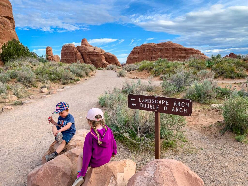 family friendly trails in arches national park
