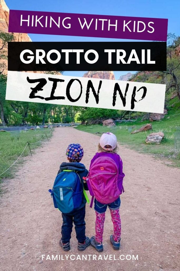 Looking for a family friendly trail in Zion National Park with Kids? The Grotto Trail is a great hike to do with kids and you can pair it up with other short hikes like the Weeping Rock Trail or Pa'rus Trail.