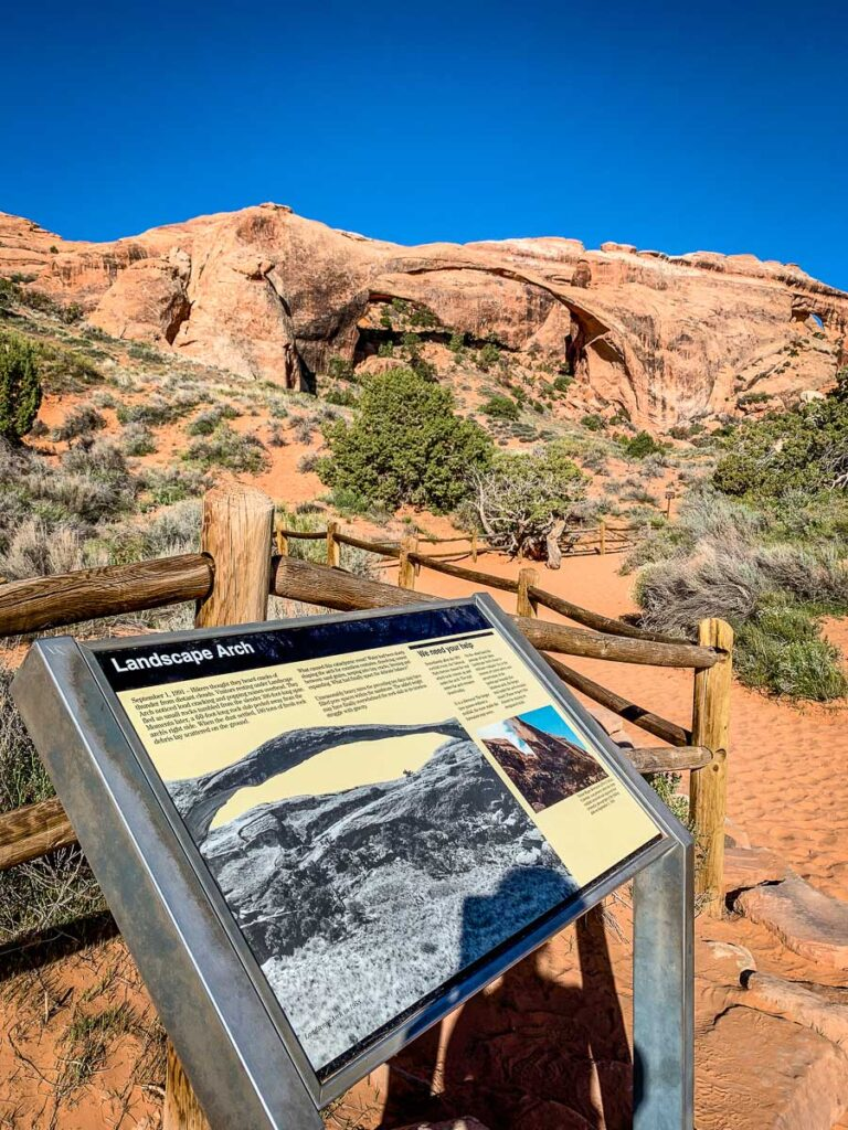 landscape arch in arches np