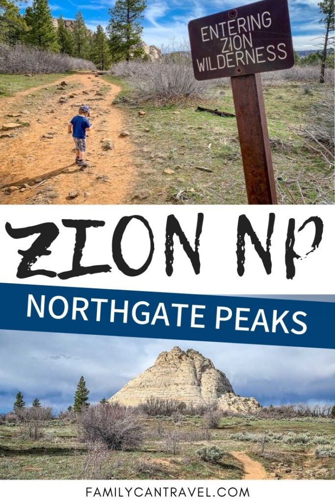 Escape the crowds and get some impressive views in Zion National Park. Northgate Peaks is well worth the time and the views are amazing! #hikingwithkids #zionnationalpark