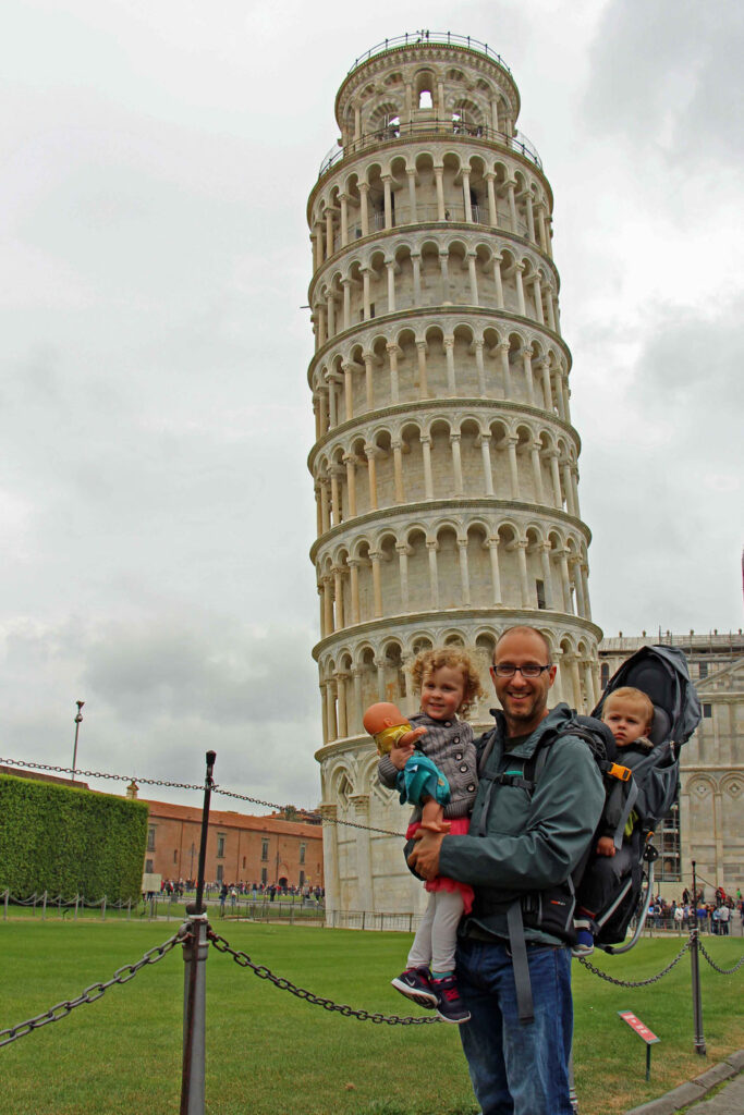 Can you go in the Leaning Tower of Pisa? Kids must be 8 years old to enter