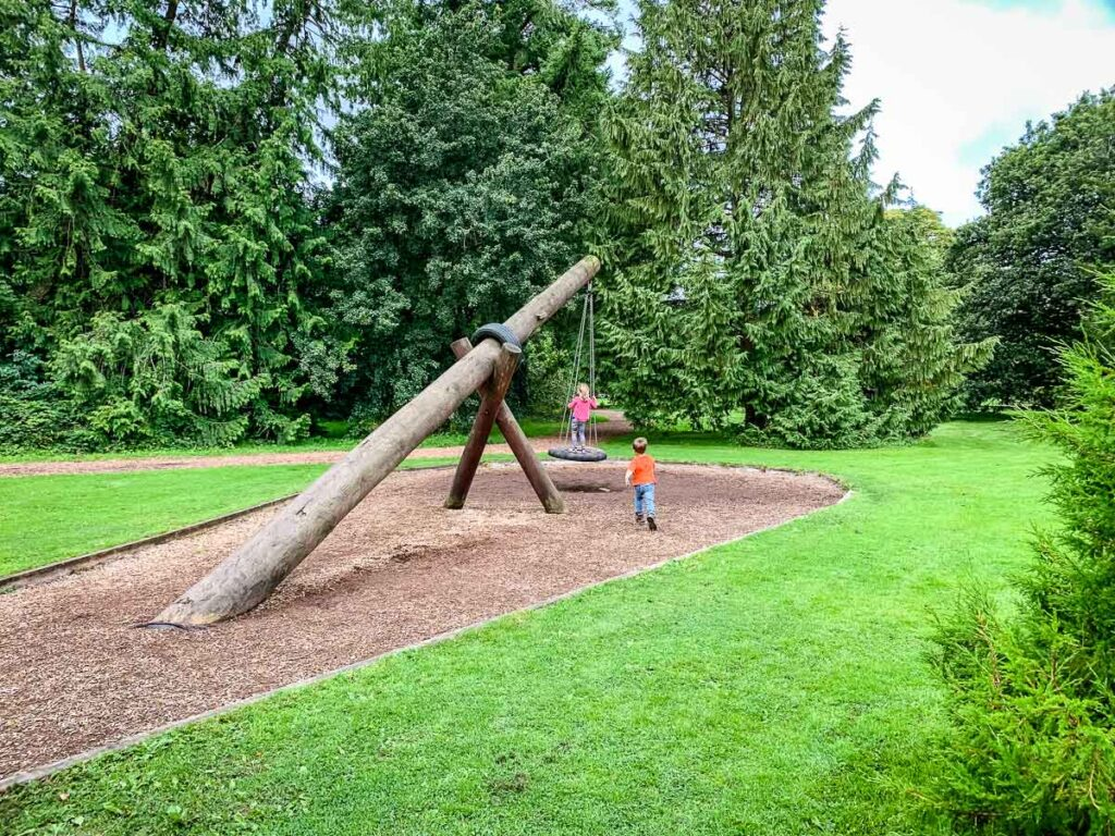 image of playground at Blarney Castle in Cork with kids