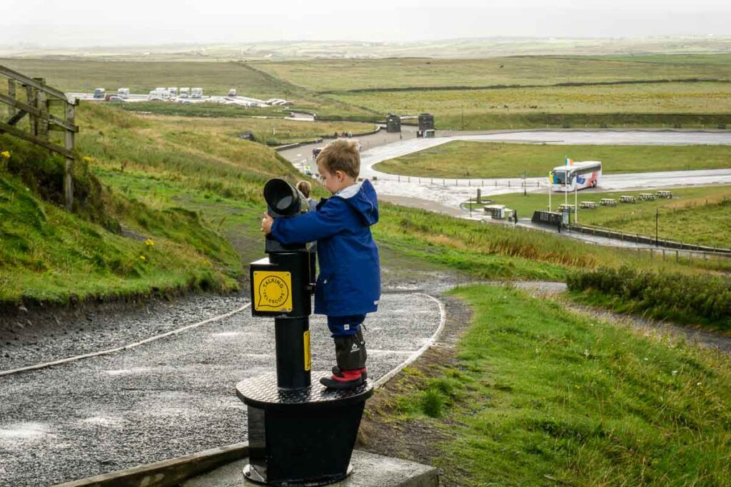 image of child at the cliffs of moher viewing area