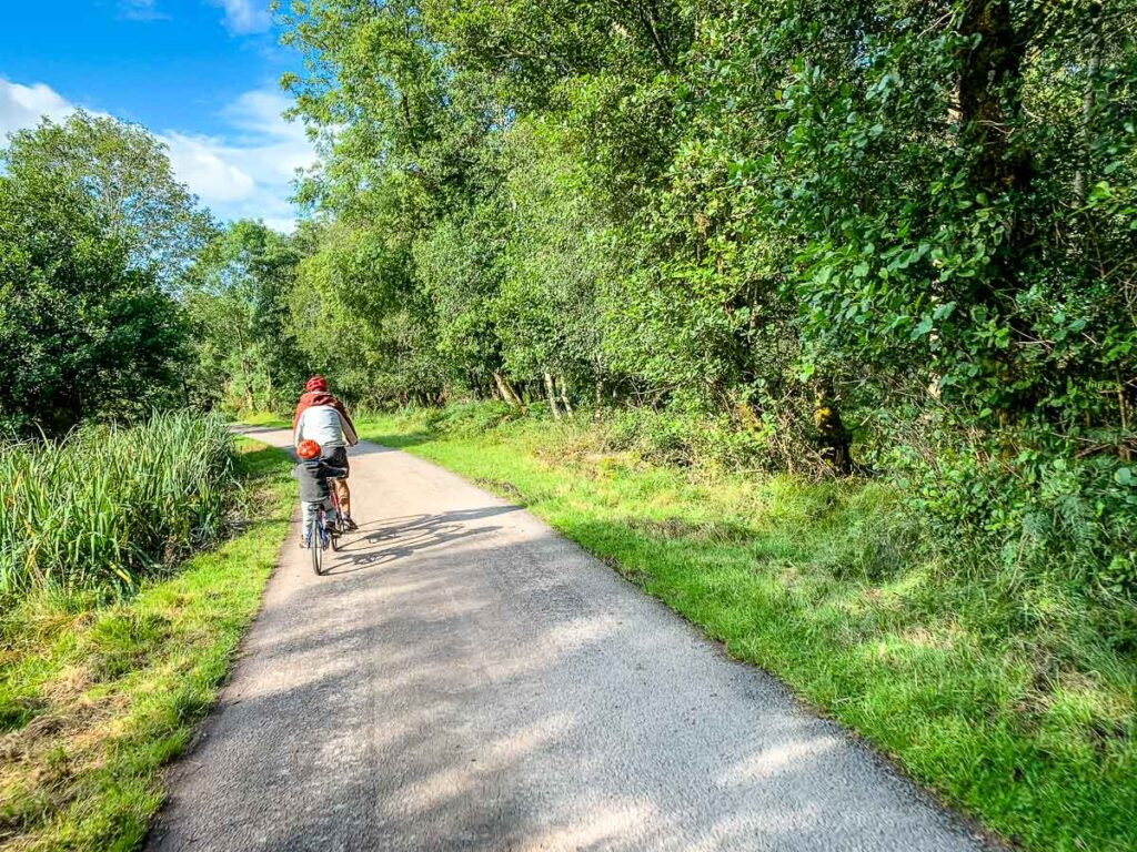 image of cycling on a path in Killarney National Park
