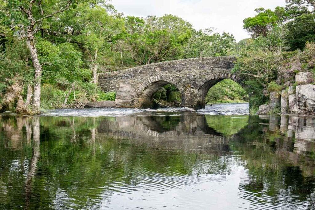 image of bridge over lakes of Killarney in Ireland
