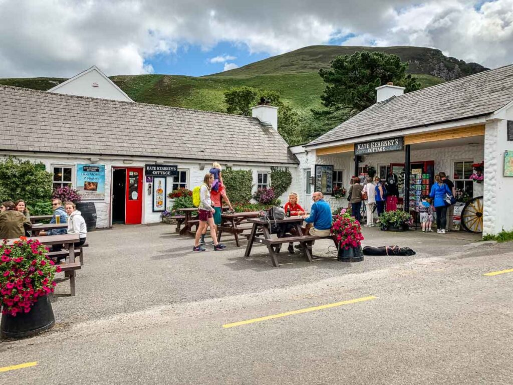 image of cafe at the end of Gap of Dunloe in Killarney National Park Ireland