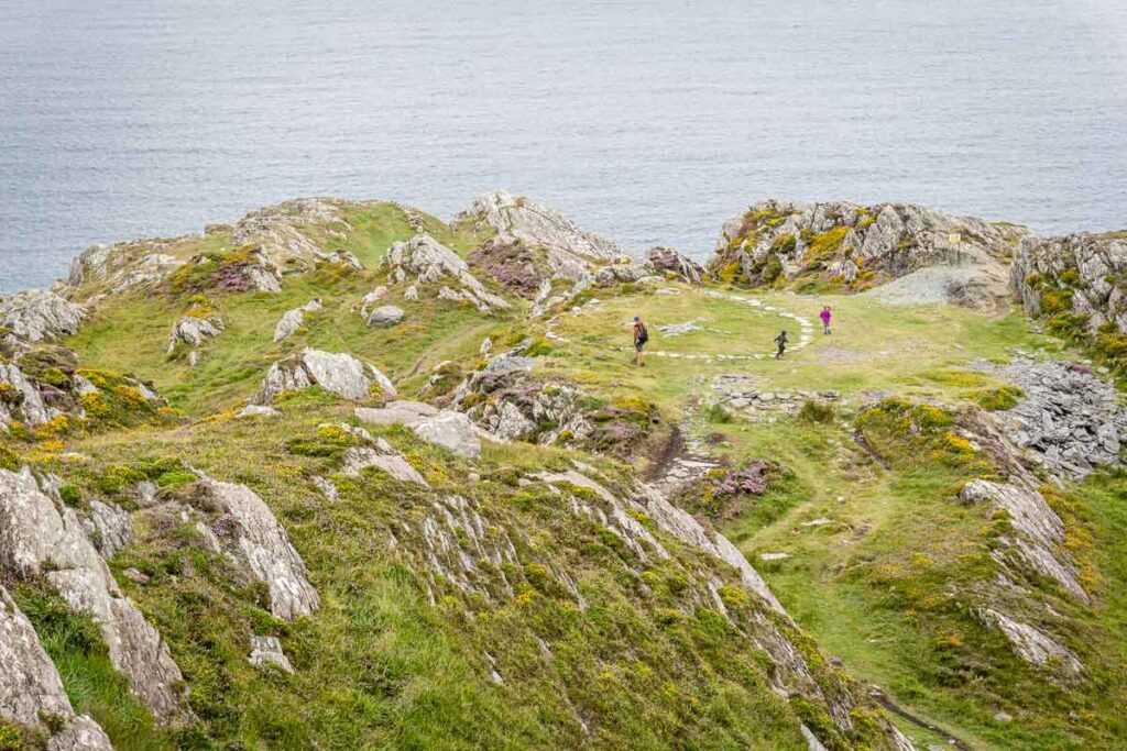 image of father and children on Lighthouse Loop walk on Sheep's Head Peninsula