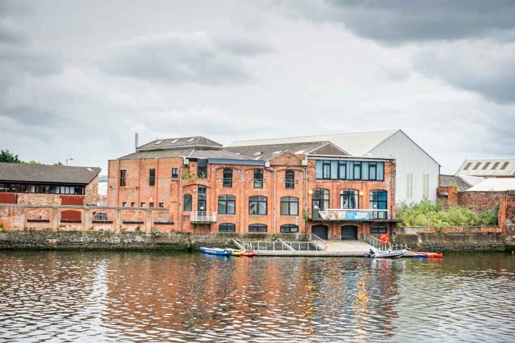 image of building along the Lagan Towpath in Belfast