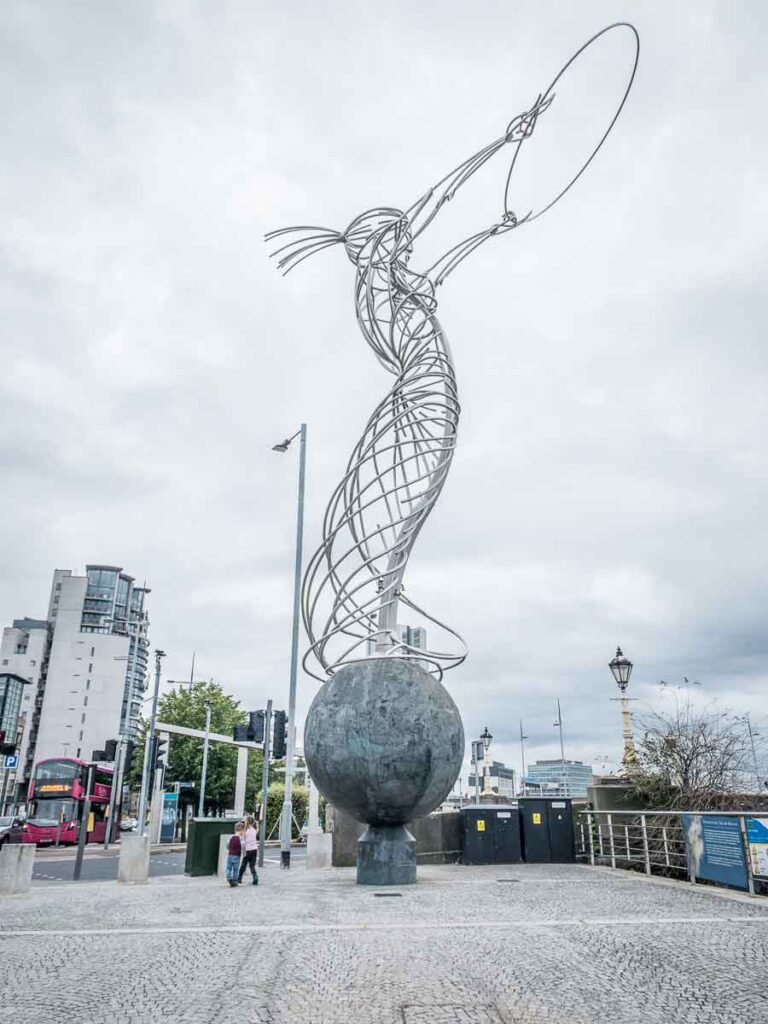 Image of Beacon of Hope Sculpture in Belfast Northern Ireland