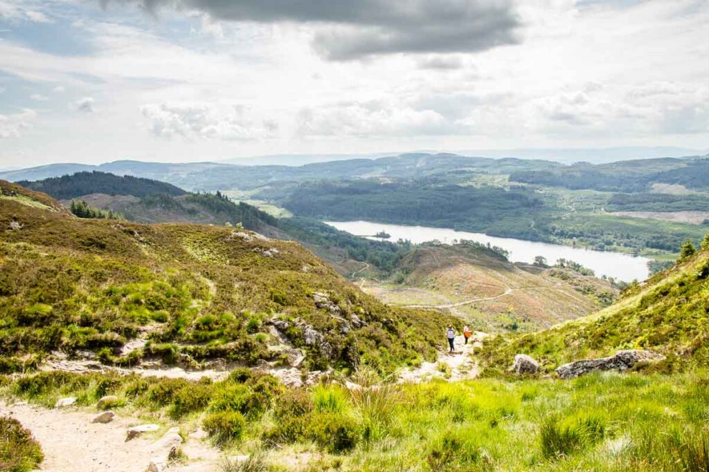 image of view while hiking Ben A'an in the Trossachs National Park Scotland