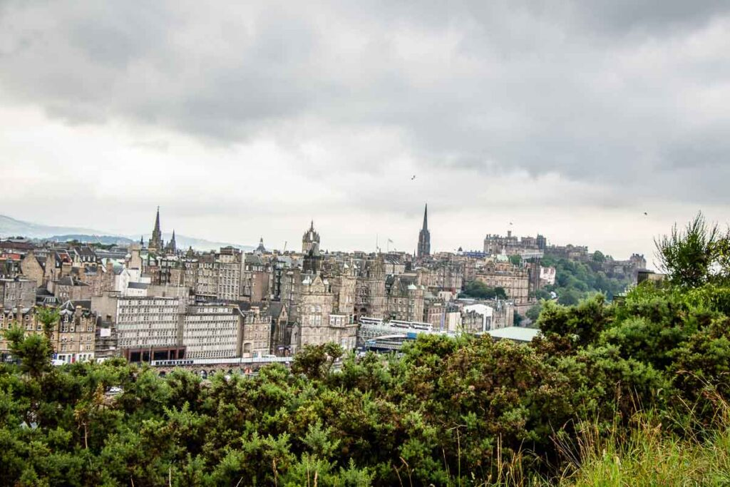 image of view of Edinburgh from Calton Hill