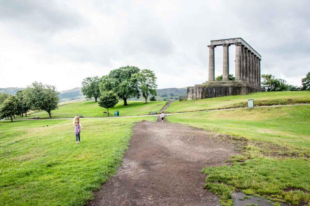 image of Calton Hill in Edinburgh