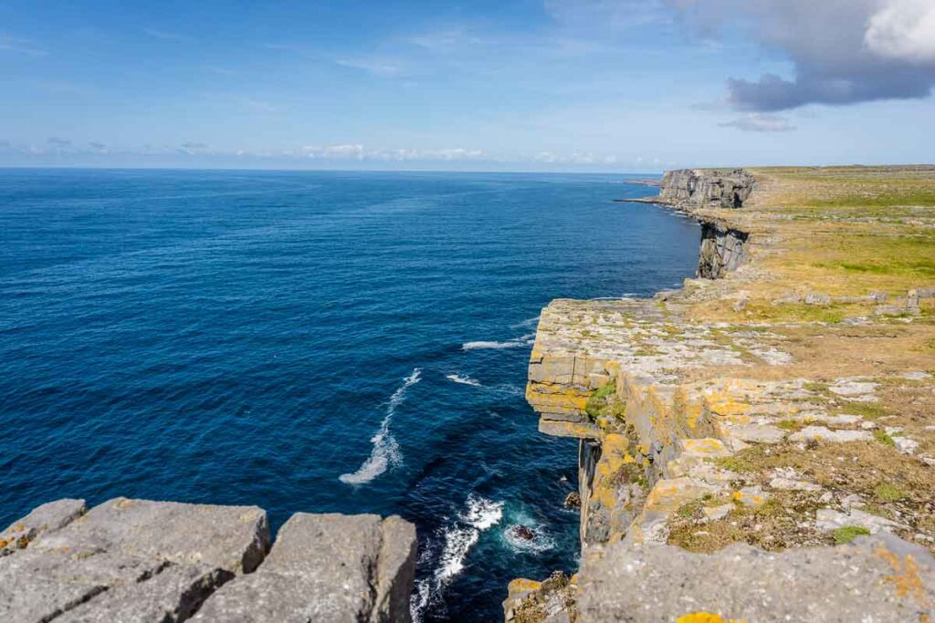 image of cliffs from Dun Aonghasa on Aran Island Inis Mor