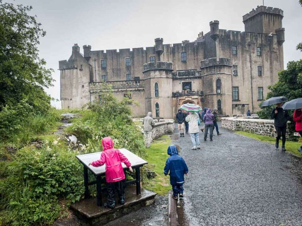 image of visiting Dunvegan Castle Isle of Skye with Kids