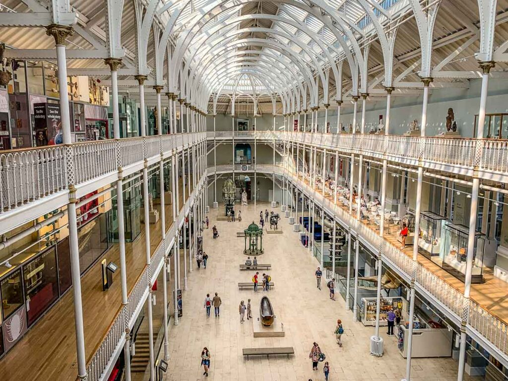 image of interior of National Museum of Scotland in Edinburgh
